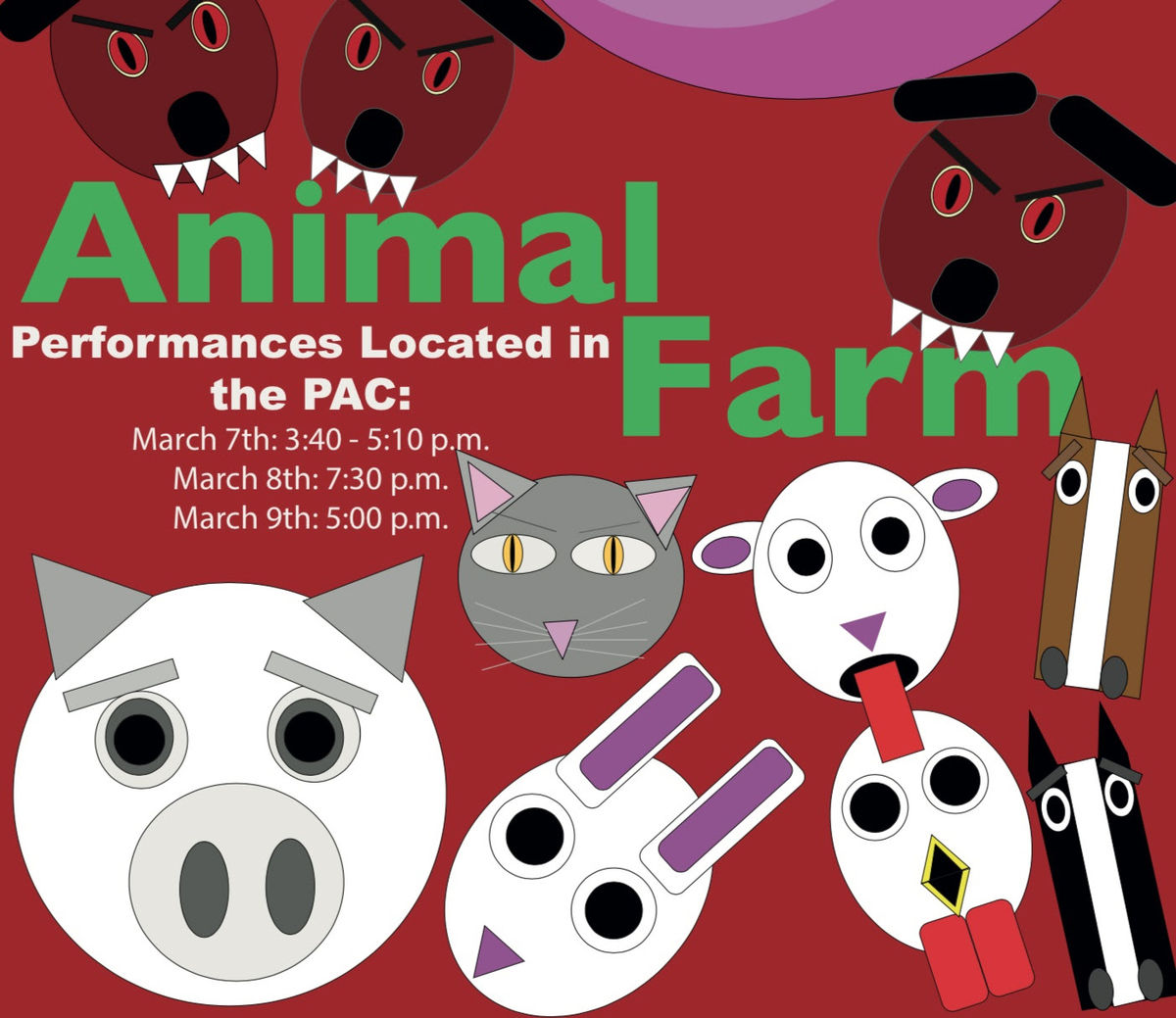On Stage in the PAC: Animal Farm